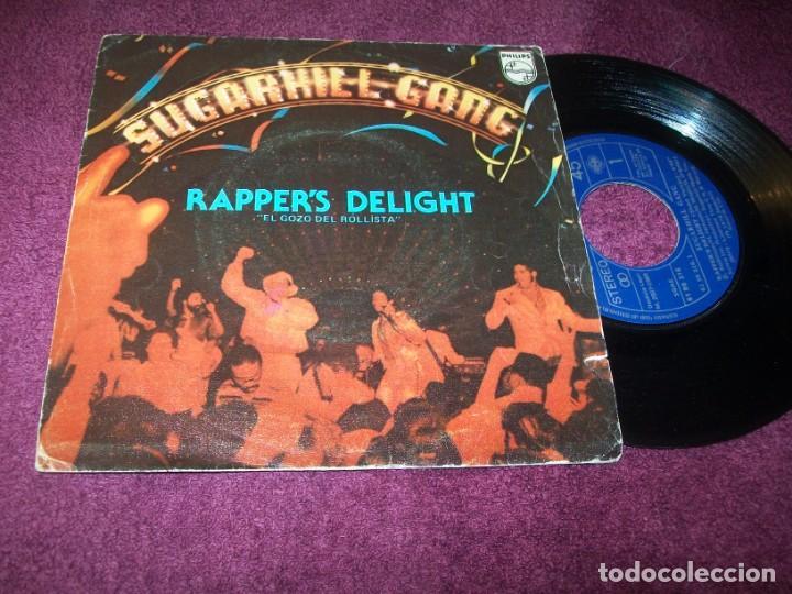 SUGARHILL GANG - RAPPER´S DELIGHT - ( VERSION CORTA Y VERSIÓN LARGA)...SINGLE DE 1979 - PHILIPS (Música - Discos - Singles Vinilo - Rap / Hip Hop)