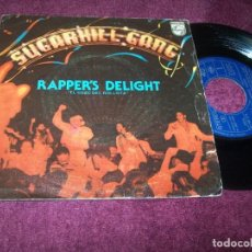 Dischi in vinile: SUGARHILL GANG - RAPPER´S DELIGHT - ( VERSION CORTA Y VERSIÓN LARGA)...SINGLE DE 1979 - PHILIPS. Lote 216368507