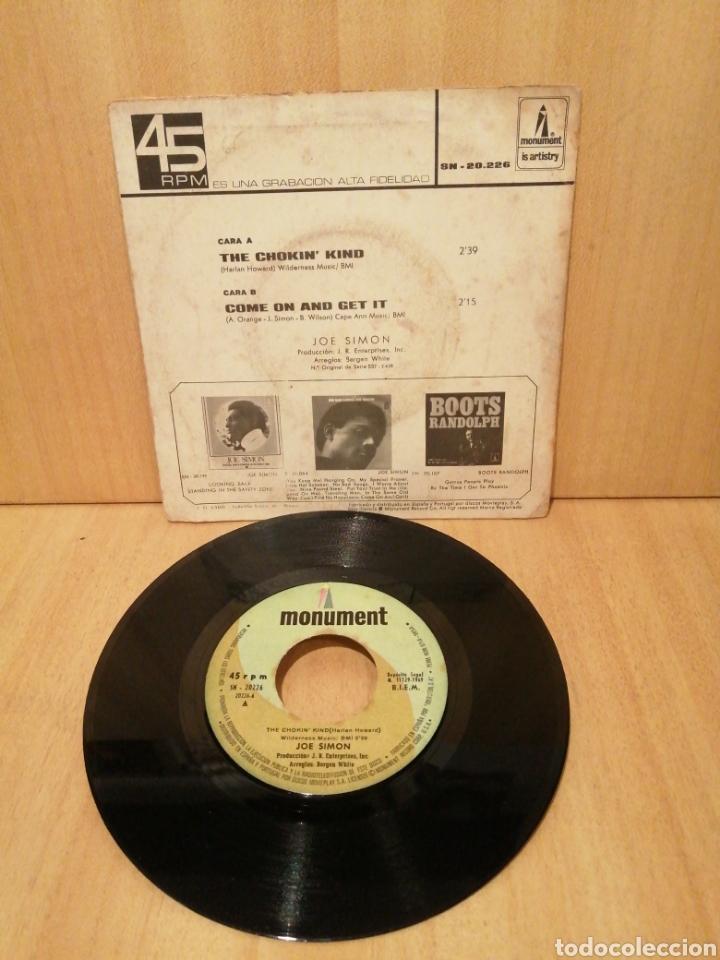 Discos de vinilo: Joe Simon. The Chokin kind. Come on and get it. Año 1969. - Foto 2 - 216370143
