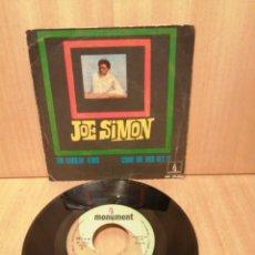 Discos de vinilo: JOE SIMON. THE CHOKIN' KIND. COME ON AND GET IT. AÑO 1969.. Lote 216370143