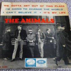 Discos de vinilo: THE ANIMALS - WE GOTTA GET OUT OF THIS PLACE - E.P. - AÑO 1965 - LA VOZ DE SU AMO - EMI. Lote 216376361