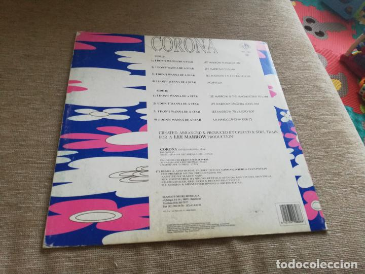 Discos de vinilo: Corona-i dont wanna be a star. maxi - Foto 2 - 216378633