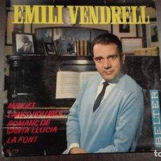 Discos de vinilo: EMILI VENDRELL EP MINUET + 3 BELTER 1964. Lote 216429383