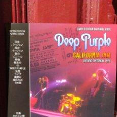 Discos de vinilo: DEEP PURPLE-CALIFORNIA JAM,ONTARIO SPEEDWAY 1974-JAPAN EDITION-LP VINILO COLOR PÚRPURA-NUEVO SIN USO. Lote 216438551