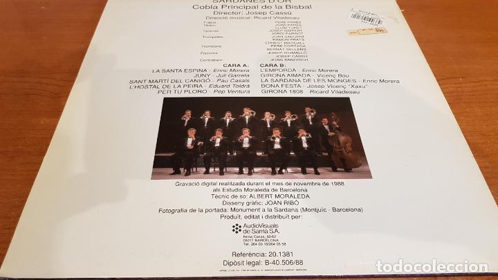 Discos de vinilo: COBLA PRINCIPAL DE LA BISBAL / SARDANES DOR / LP - AVS-1988 / MBC. ***/*** - Foto 2 - 216439130