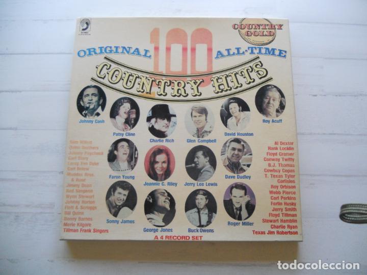 VARIOUS – ORIGINAL 100 ALL-TIME COUNTRY HITS CAJA DE 4 LPS COMO NUEVA (Música - Discos - LP Vinilo - Country y Folk)