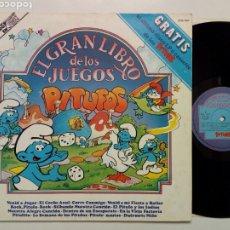 Discos de vinilo: DISCO LP + GRAN LIBRO DE LOS JUEGOS PITUFOS (1981). Lote 216477157