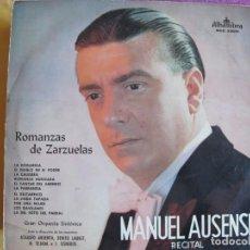 Disques de vinyle: LP - MANUEL AUSENSI - ROMANZAS DE ZARZUELAS (SPAIN, DISCOS ALHAMBRA 1961). Lote 216479690