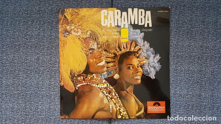 ROBERTO DELGADO Y SU ORQUETA - CARAMBA. EDITADO POR POLYDOR. AÑO 1.965.PURO RITMO AFRO-CUBANO (Música - Discos - LP Vinilo - Orquestas)
