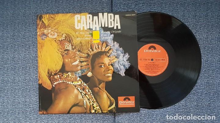 Discos de vinilo: Roberto Delgado y su orqueta - Caramba. Editado por Polydor. año 1.965.Puro ritmo Afro-Cubano - Foto 2 - 216490197