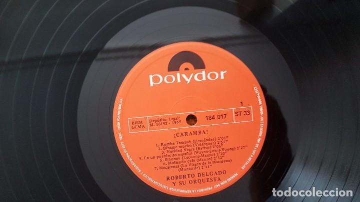 Discos de vinilo: Roberto Delgado y su orqueta - Caramba. Editado por Polydor. año 1.965.Puro ritmo Afro-Cubano - Foto 4 - 216490197