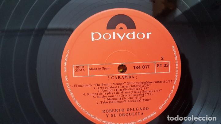 Discos de vinilo: Roberto Delgado y su orqueta - Caramba. Editado por Polydor. año 1.965.Puro ritmo Afro-Cubano - Foto 5 - 216490197