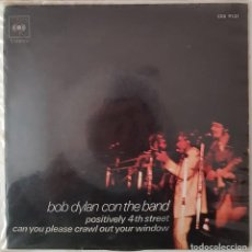 Discos de vinilo: BOB DYLAN CON THE BAND. POSITIVELY 4TH STREET. 1971. Lote 216491730