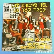 Discos de vinilo: LAS CHICAS DEL UN DOS TRES (SINGLE 1972) NO SEA USTED CICUTA - UN, DOS, TRES RESPONDA OTRA VEZ - TVE. Lote 216492407