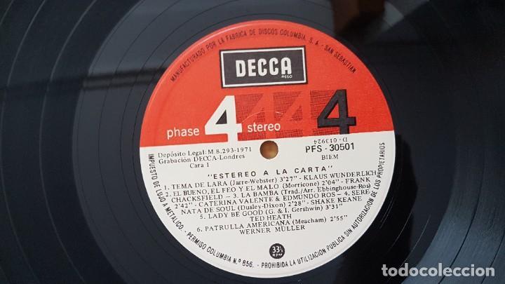 Discos de vinilo: Estereo a la carta - Werner Muller, Ted Heath, Los Machucambos, etc. Editado por Decca. año 1.971 - Foto 4 - 216493462