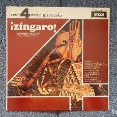 Discos de vinilo: WERNER MULLER Y SU ORQUESTA - ZINGARO. EDITADO POR DECCA. AÑO 1.970. SONIDO 4 FASES ESTÉREO.. Lote 216495182