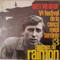 Discos de vinilo: RAIMON. CANÇONS (II). V FESTIVAL DE LA CANÇO MEDITERRÀNIA. 1963. Lote 216495705