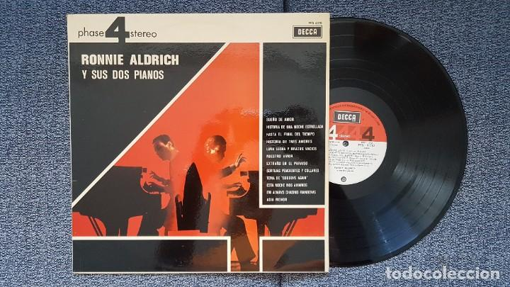 Discos de vinilo: Ronnie Aldrich y sus dos pianos - Editado por Decca. año 1.970. Sonido 4 fases estéreo. - Foto 2 - 216496471