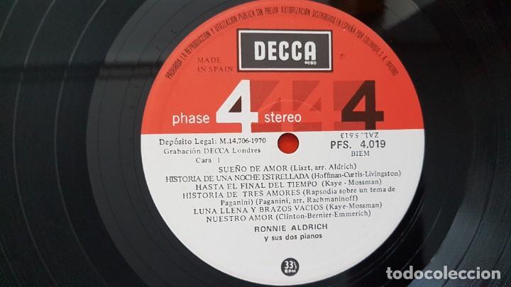 Discos de vinilo: Ronnie Aldrich y sus dos pianos - Editado por Decca. año 1.970. Sonido 4 fases estéreo. - Foto 4 - 216496471