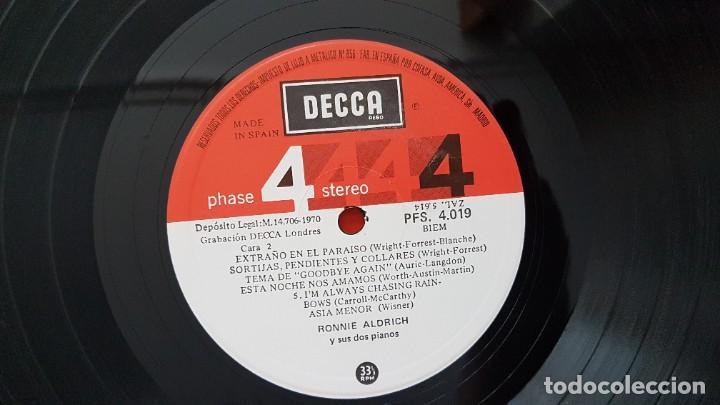 Discos de vinilo: Ronnie Aldrich y sus dos pianos - Editado por Decca. año 1.970. Sonido 4 fases estéreo. - Foto 5 - 216496471