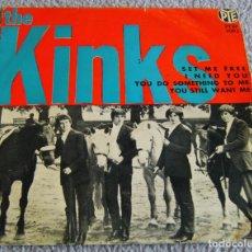 Discos de vinilo: THE KINKS - SET ME FREE + 3 - EP - AÑO 1965. Lote 216510250