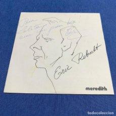 Discos de vinilo: SINGLE ERIC ROBRECHT - JE ROULE POUR VOUS - FRANCIA - AÑO 1976 - FIRMADO. Lote 216551868