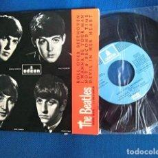 Discos de vinil: BEATLES SINGLE EP EMI ODEON ESPAÑA RE EDICION REFERENCIA AZUL CIELO EXCELENTE ESTADO DE CONSERVACION. Lote 216556018