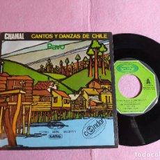 """Discos de vinilo: 7"""" CHAMAL – CANTOS Y DANZAS DE CHILE - PAVO / LA NAVE - MOVIEPLAY 17.1281/3 SPAIN PRESS (EX-/EX). Lote 216560030"""