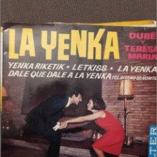 Discos de vinilo: FRANK DUBE Y TERESA MARIA. LA YENKA, BELTER 1965. Lote 216563743