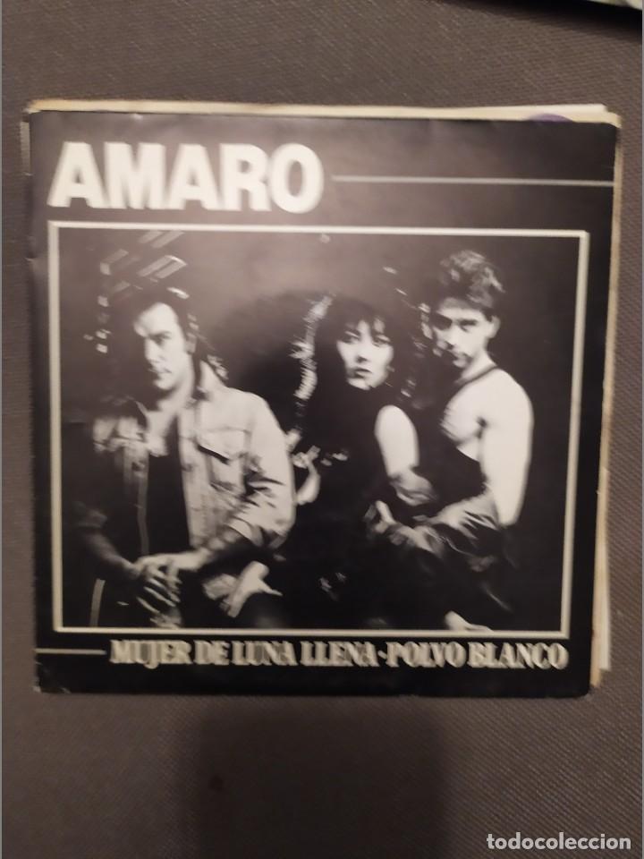AMARO: MUJER DE LUNA LLENA, POLVO BLANCO PROMOCIONAL-ONOMASTER 1987- (Música - Discos - Singles Vinilo - Grupos Españoles de los 70 y 80)