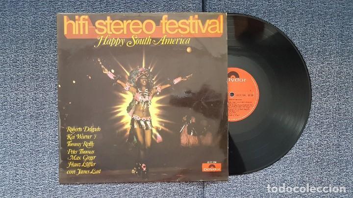 Discos de vinilo: Hifi-Stereo-Festival. Happy south America. James Last, Roberto Delgado, Kai Warner, etc. año 1.970 - Foto 2 - 216578877
