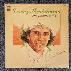 Discos de vinilo: LORENZO SANTAMARIA - SUS GRANDES EXITOS. EDITADO POR EMI. AÑO 1.977. Lote 216584313