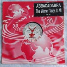 """Discos de vinilo: ABBACADABRA - THE WINNER TAKES IT ALL (ABBA COVER) (12"""", MAXI) (UK) (D:VG+/C:VG+). Lote 216585325"""