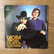 Disques de vinyle: CAOBA - SINFONIA DEL AMOR - DON NADIE - TOP POPSIKE - PAPAGAYO!. Lote 216590007