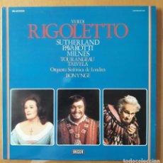 Discos de vinilo: LP VERDI. RIGOLETTO. ORQUESTA SINFÓNICA DE LONDRES.. Lote 216592496