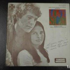 Discos de vinilo: LOVE STORY SINGLE BSO VERSIÓN ORIGINAL 1971. Lote 216595470