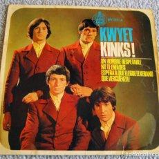 Discos de vinilo: KWYET KINKS - UN HOMBRE RESPETABLE + 3 - EP - AÑO 1965. Lote 216618391