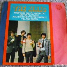 Discos de vinilo: THE KINKS - PUESTA DE SOL EN WATERLOO + 3 - EP - AÑO 1967. Lote 216620567
