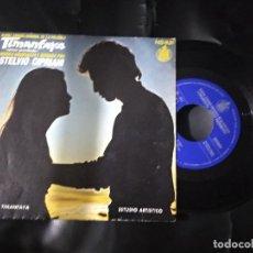 Discos de vinilo: BANDA SONORA TIMANFAYA / STELVIO CIPRIANI / SINGLE 45 RPM / HISPAVOX. Lote 216621570