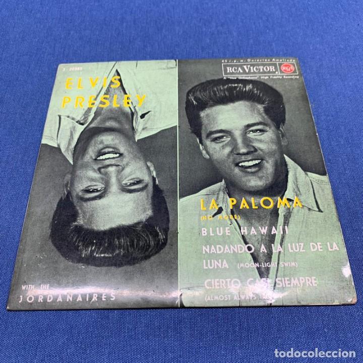 EP ELVIS PRESLEY WHIT THE JORDANIERS - LA PALOMA NO MORE - ESPAÑA - AÑO 1962 (Música - Discos de Vinilo - EPs - Rock & Roll)