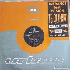 Discos de vinilo: MAXI / INTRANCE FEAT. D-SIGN - TE QUIERRO, URBAN 861 687-1, 1993 ALEMANIA. Lote 216664852