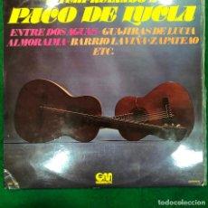 Discos de vinilo: INTERPRETANDO A PACO DE LUCIA - LP GRAMUSIC DE 1976 RF-8551 , BUEN ESTADO. Lote 216664865