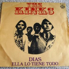 Discos de vinilo: THE KINKS - DÍAS - SINGLE - AÑO 1968. Lote 216679085