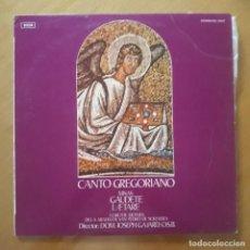 Disques de vinyle: LP CANTO GREGORIANO. MISAS GAUDETE-LAETARE. CORO DE MONJES DE LA ABADÍA DE SAN. Lote 216702966