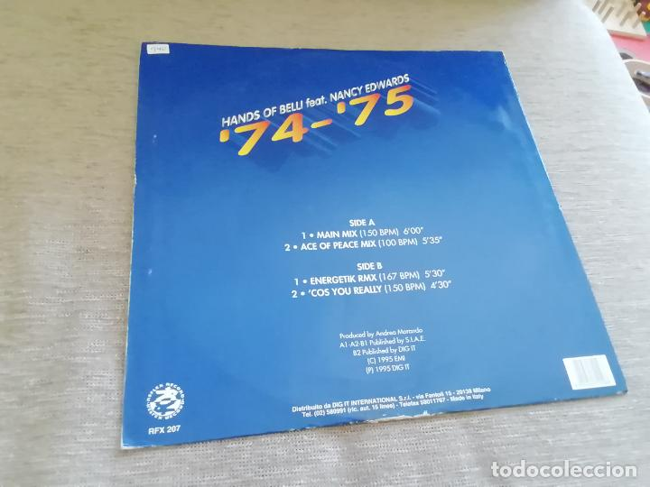 Discos de vinilo: Hands of belli feat. Nancy Edwards--74 - 75.maxi italia - Foto 2 - 216752302