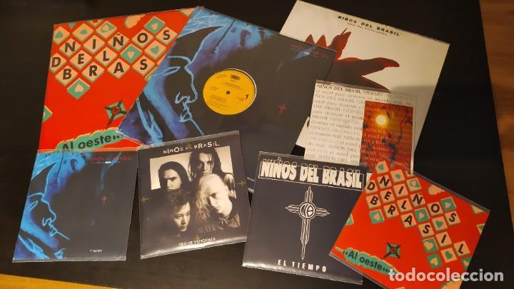NIÑOS DEL BRASIL - LOTE DE 3 MAXISINGLES Y 5 SINGLES PROMOCIONALES - 1989-1993 - HÉROES DEL SILENCIO (Música - Discos de Vinilo - Maxi Singles - Grupos Españoles de los 90 a la actualidad)