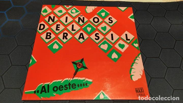 Discos de vinilo: NIÑOS DEL BRASIL - LOTE DE 3 MAXISINGLES Y 5 SINGLES PROMOCIONALES - 1989-1993 - HÉROES DEL SILENCIO - Foto 7 - 216757007