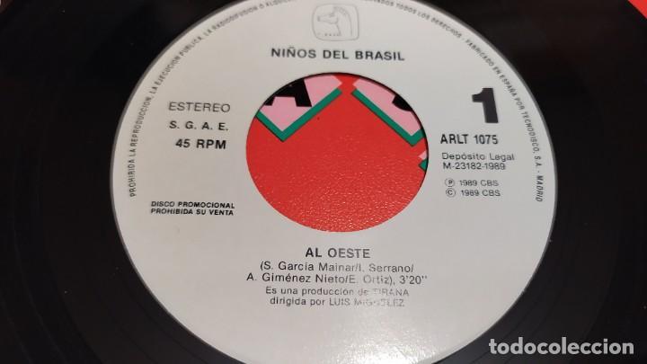 Discos de vinilo: NIÑOS DEL BRASIL - LOTE DE 3 MAXISINGLES Y 5 SINGLES PROMOCIONALES - 1989-1993 - HÉROES DEL SILENCIO - Foto 19 - 216757007