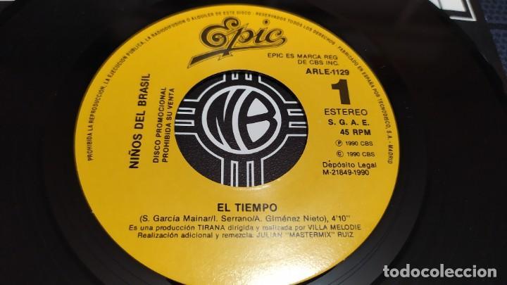 Discos de vinilo: NIÑOS DEL BRASIL - LOTE DE 3 MAXISINGLES Y 5 SINGLES PROMOCIONALES - 1989-1993 - HÉROES DEL SILENCIO - Foto 23 - 216757007