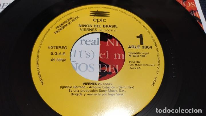 Discos de vinilo: NIÑOS DEL BRASIL - LOTE DE 3 MAXISINGLES Y 5 SINGLES PROMOCIONALES - 1989-1993 - HÉROES DEL SILENCIO - Foto 27 - 216757007